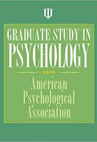 Graduate Study in Psychology, 2018 Edition