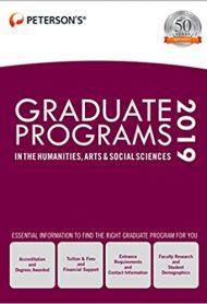 Graduate Programs in the Humanities, Arts & Social Sciences