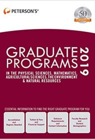 Graduate Programs in the Physical Sciences, Mathematics, Agricultural Sciences, the Environment & Natural Resources