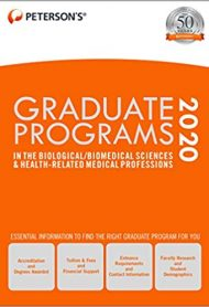 Graduate Programs in the Biological/Biomedical Sciences & Health-Related Medical Professions 2020