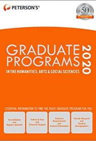 Graduate Programs in the Humanities, Arts & Social Sciences 2020